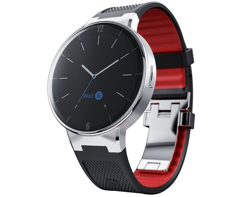Onetouch Watch SM02  Black/Dark Red hAL001