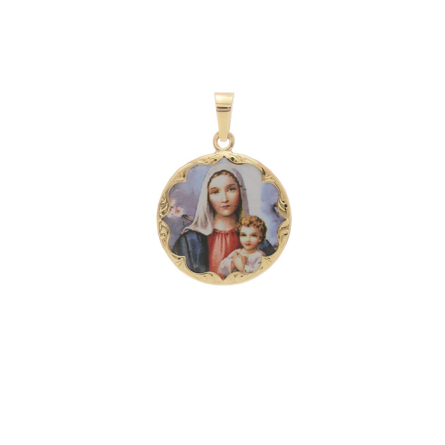 Božia Matka s dieťaťom okrúhly medailón 2VS00196