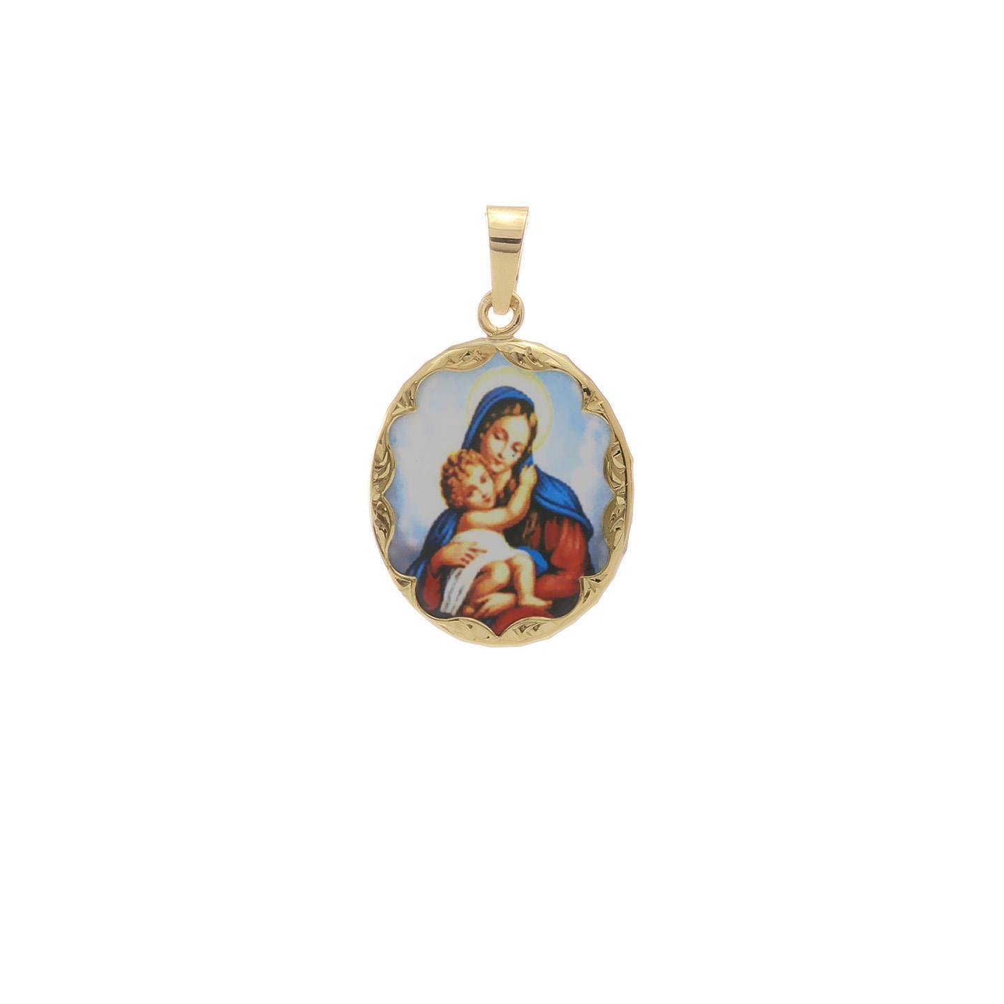 Dieťa v náručí Matky Božej malý medaión 2VS00199