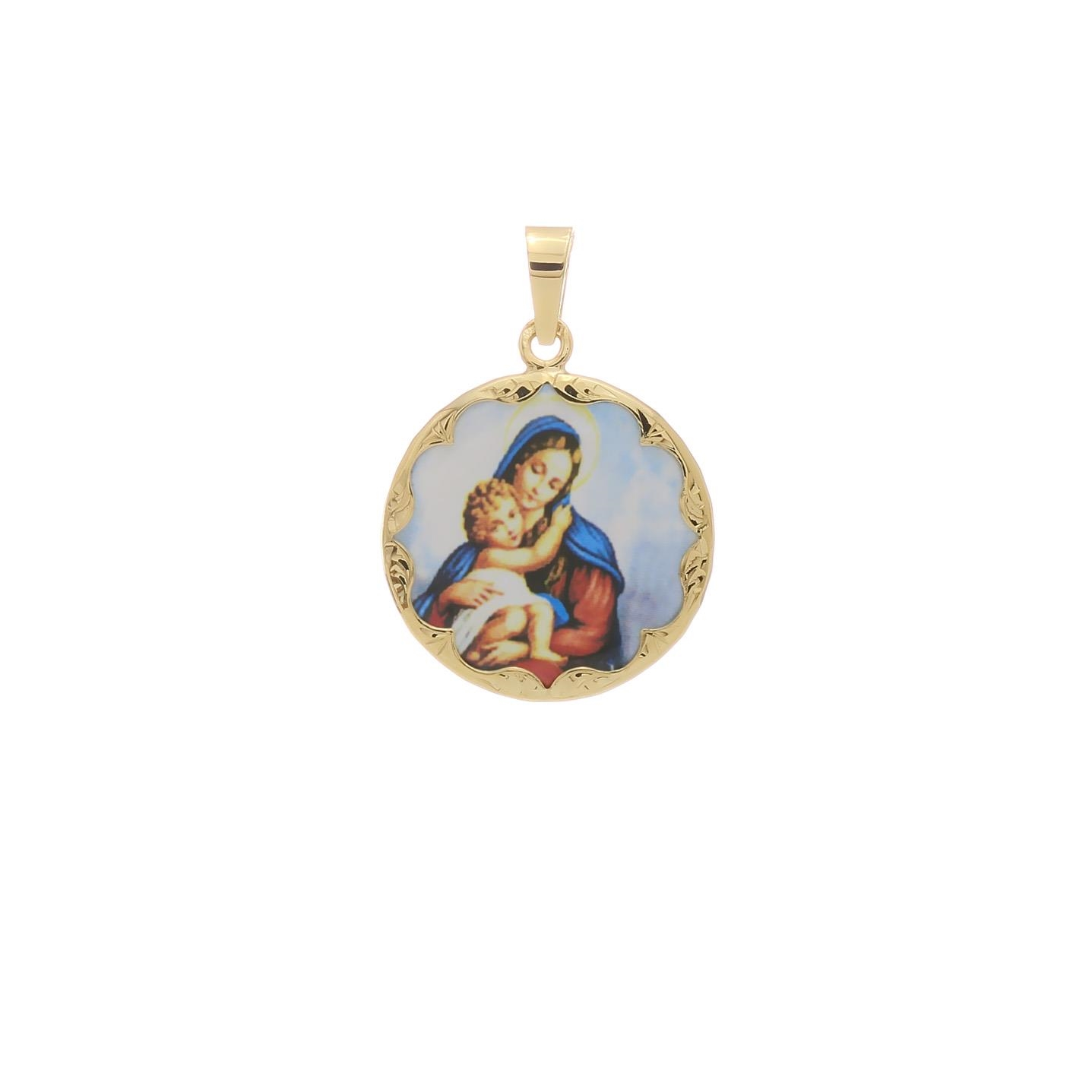 Dieťa v náručí Matky Božej okrúhly medaión 2VS00198