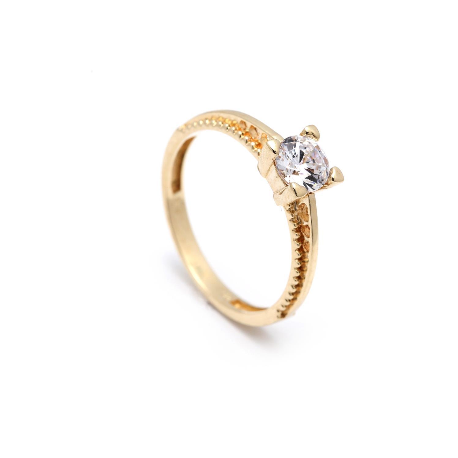 Zlatý zásnubný prsteň ALYSSUM 2PZ00098
