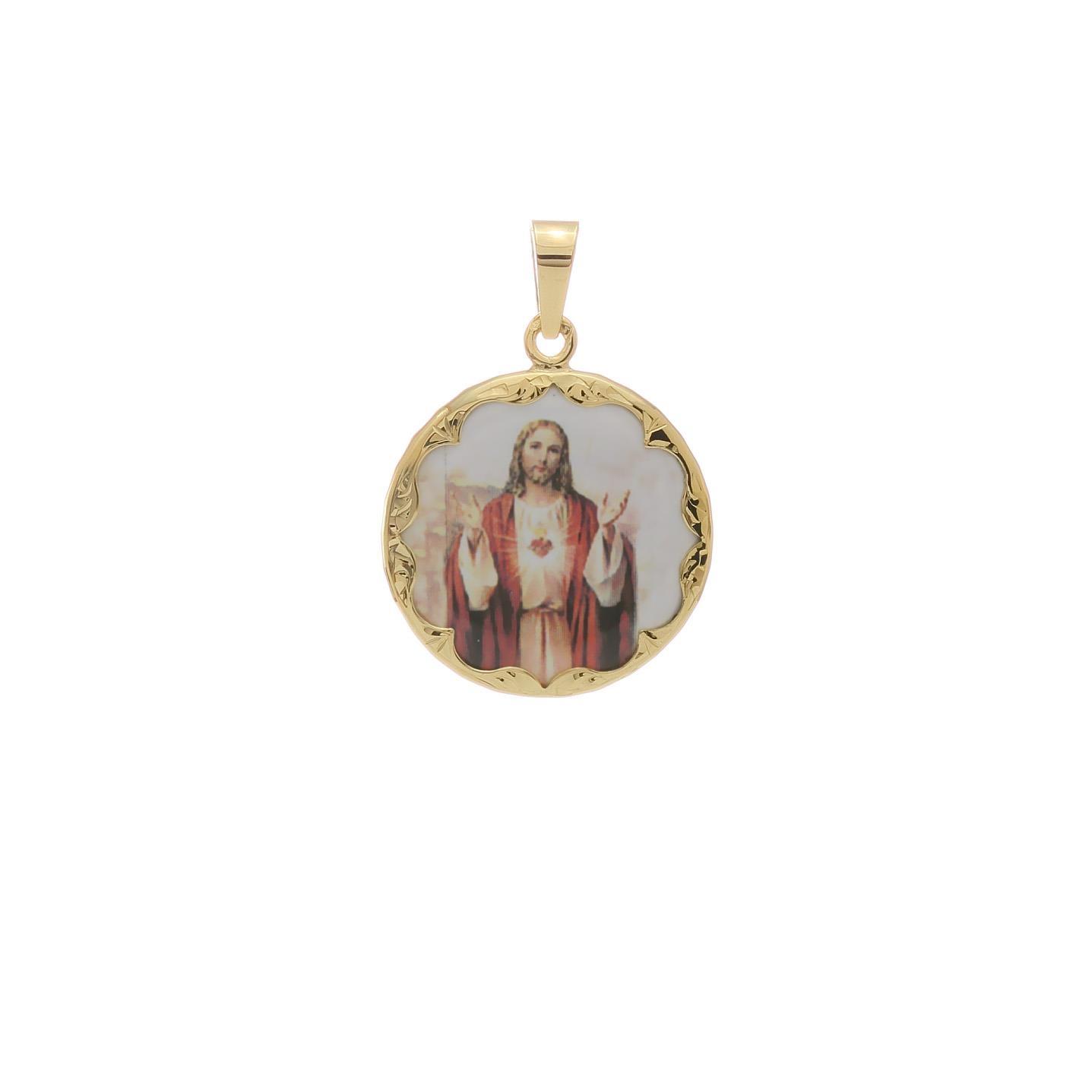 Ježišovo Božské Srdce okrúhly medailón 2VS00177