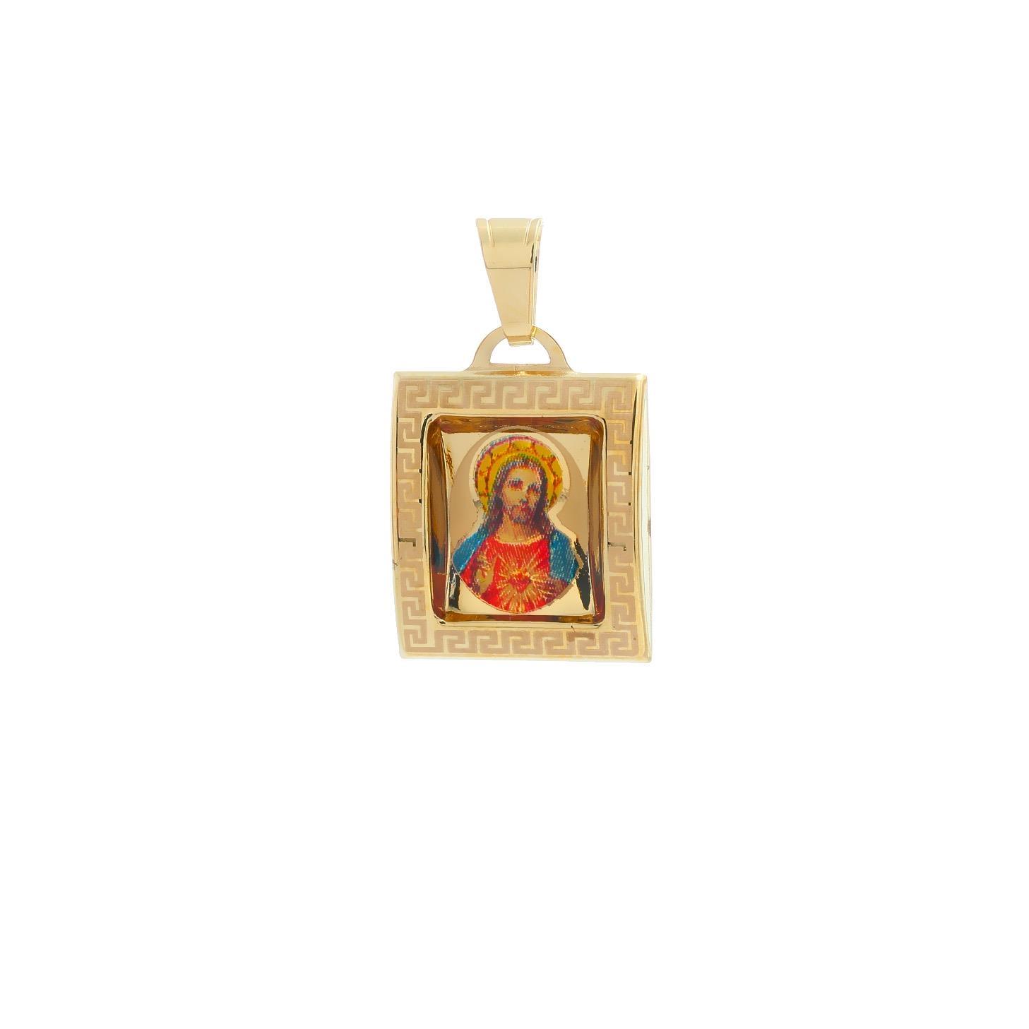 Medailón Ježišovo Božské Srdce zo žltého zlata 10VS00458
