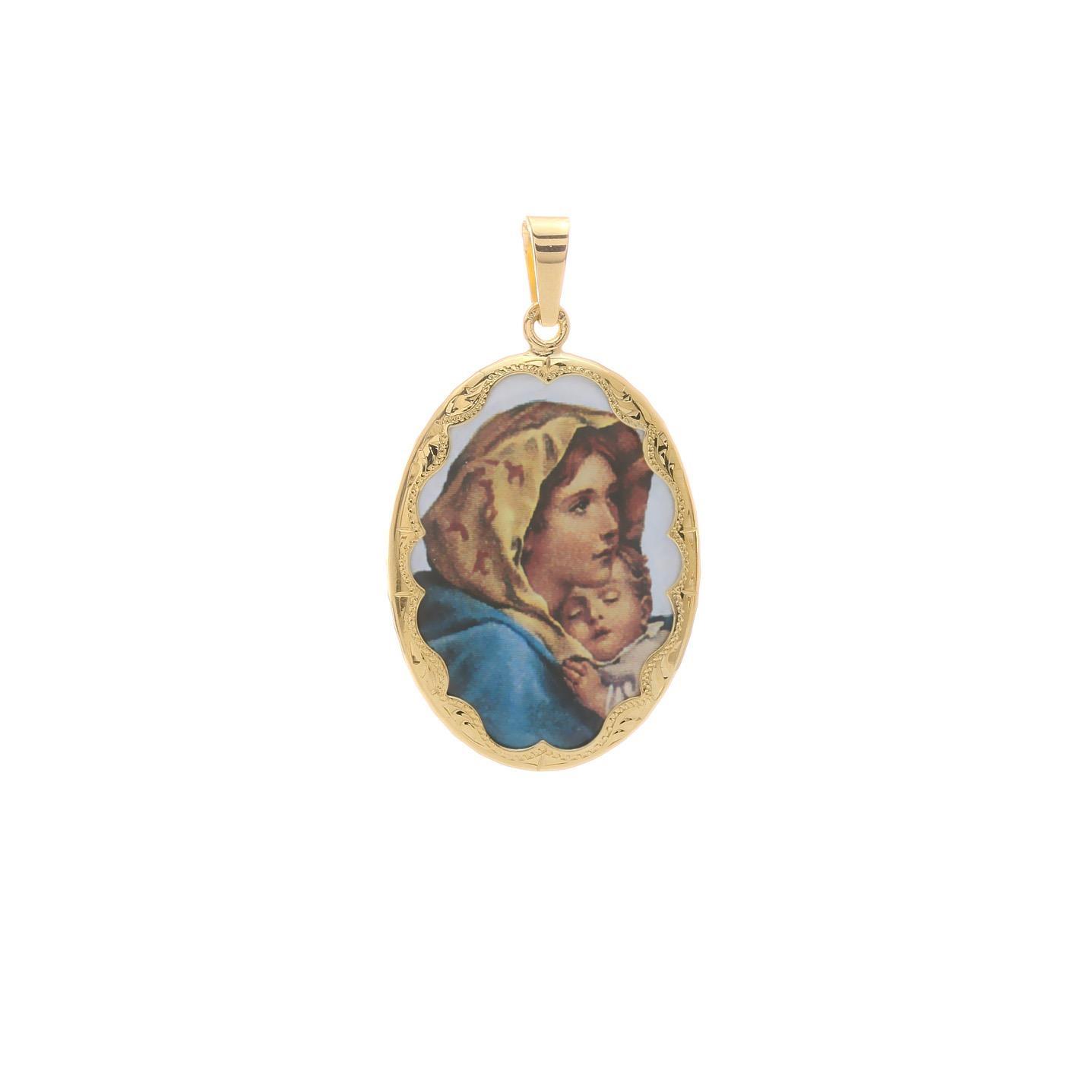 Medailón Panny Márie so spiacim dieťaťom 2VS00191
