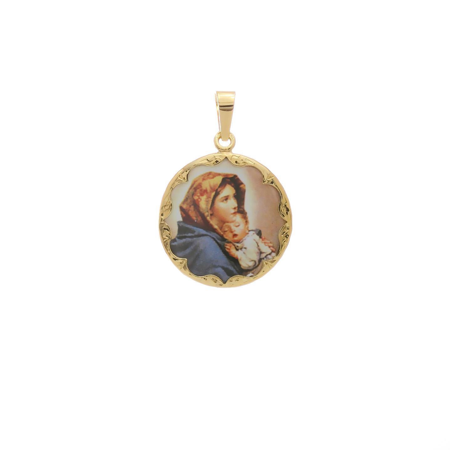 Okrúhly medailón Madony so spiacim dieťaťom 2VS00189