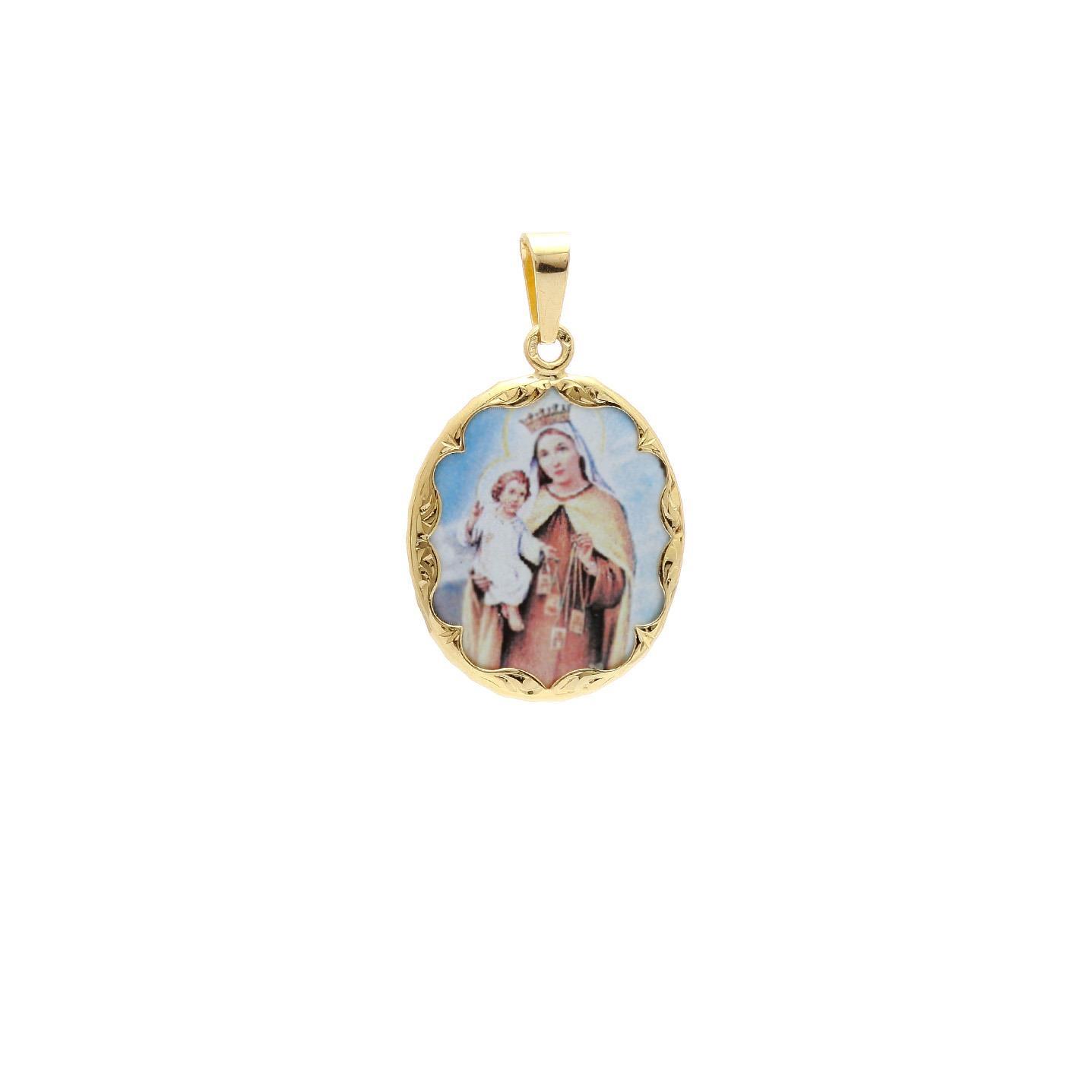 Panna Mária Škapuliarska malý medailón 2VS00168