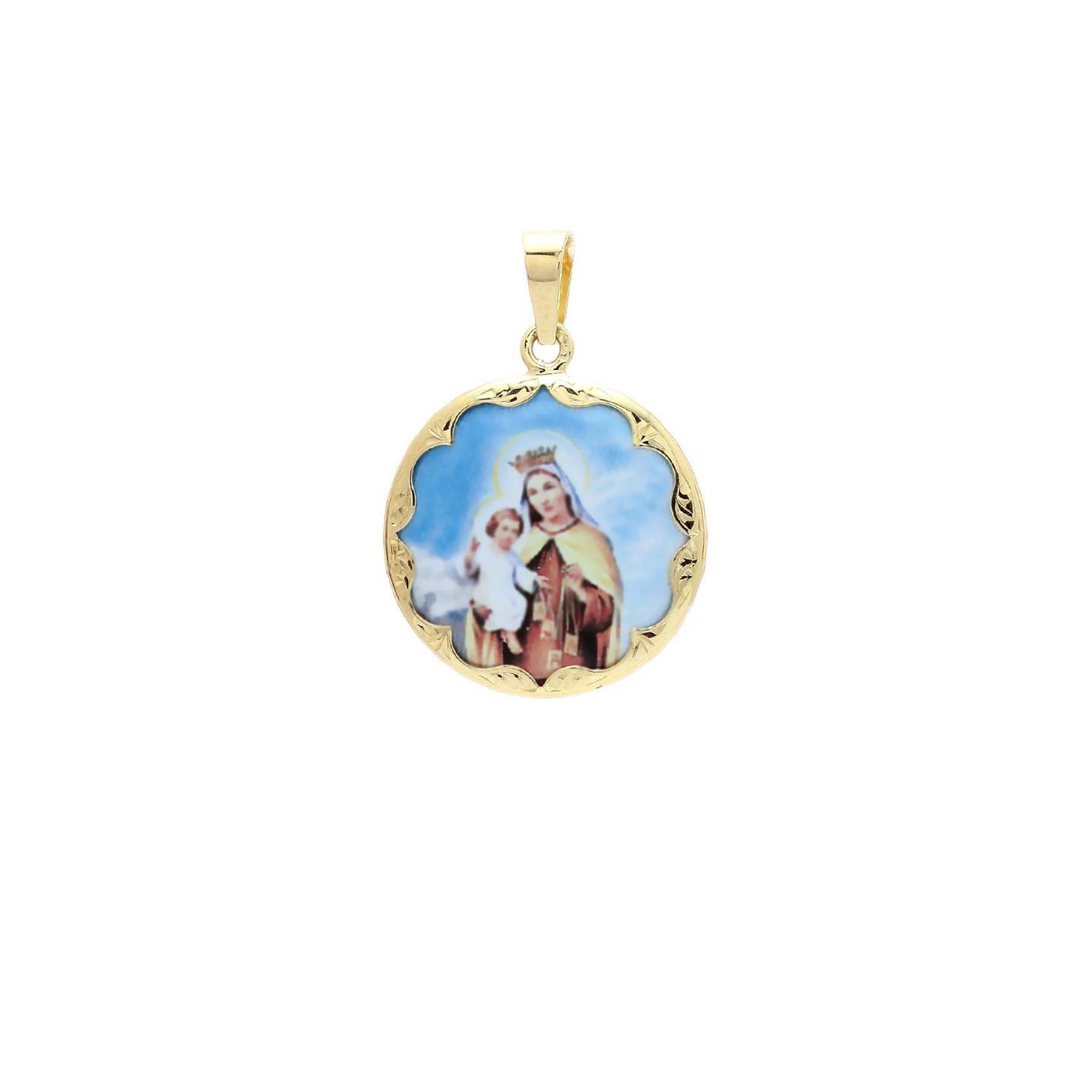 Panna Mária Škapuliarska okrúhly medailón 2VS00176