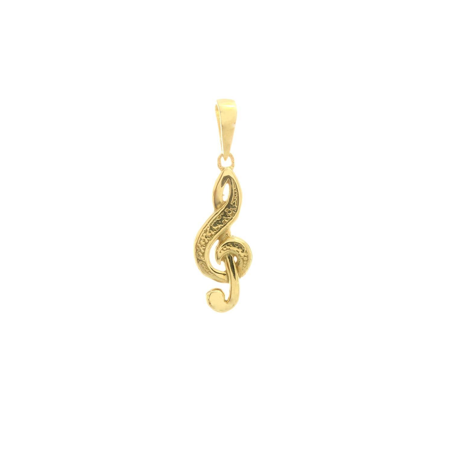 Prívesok HUSĽOVÝ KĽÚČ zo žltého zlata 3VZ00288
