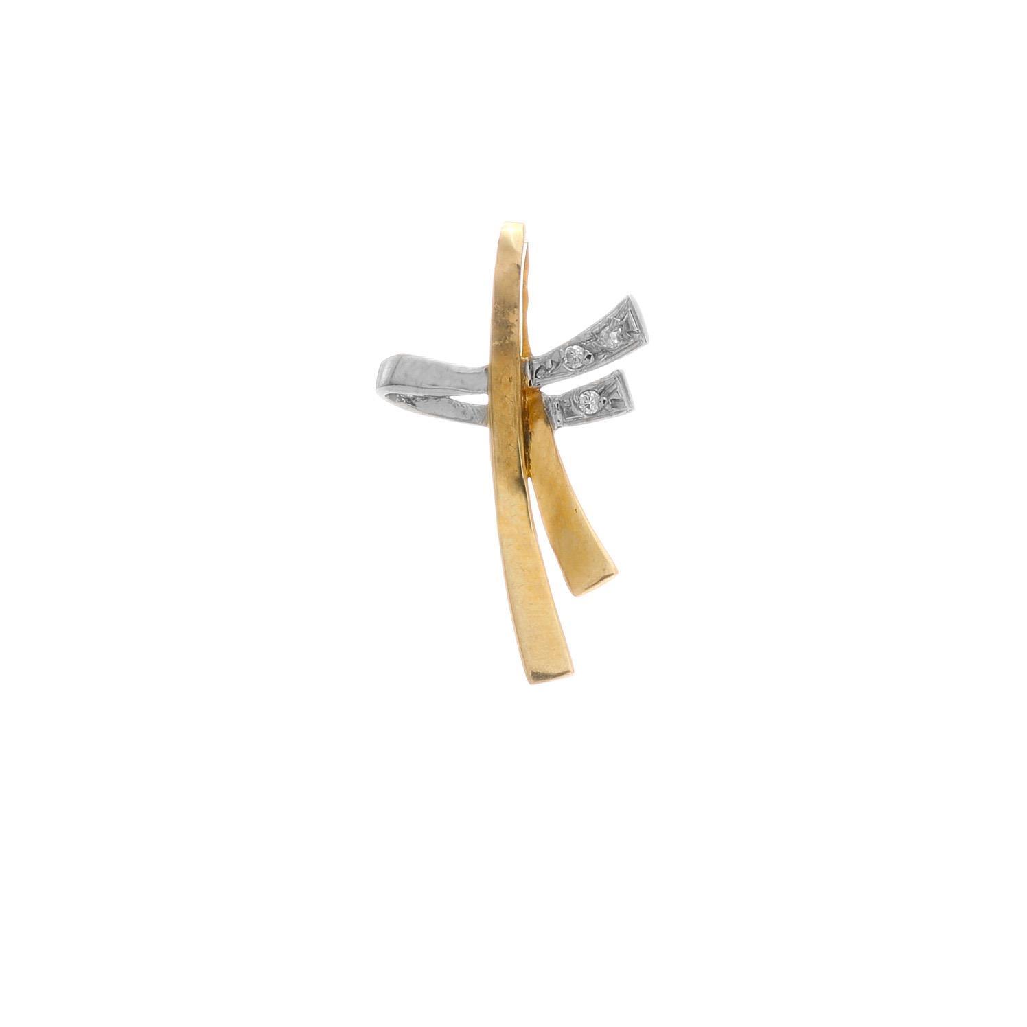 Prívesok KRÍŽIK z kombinovaného zlata 3VK00414