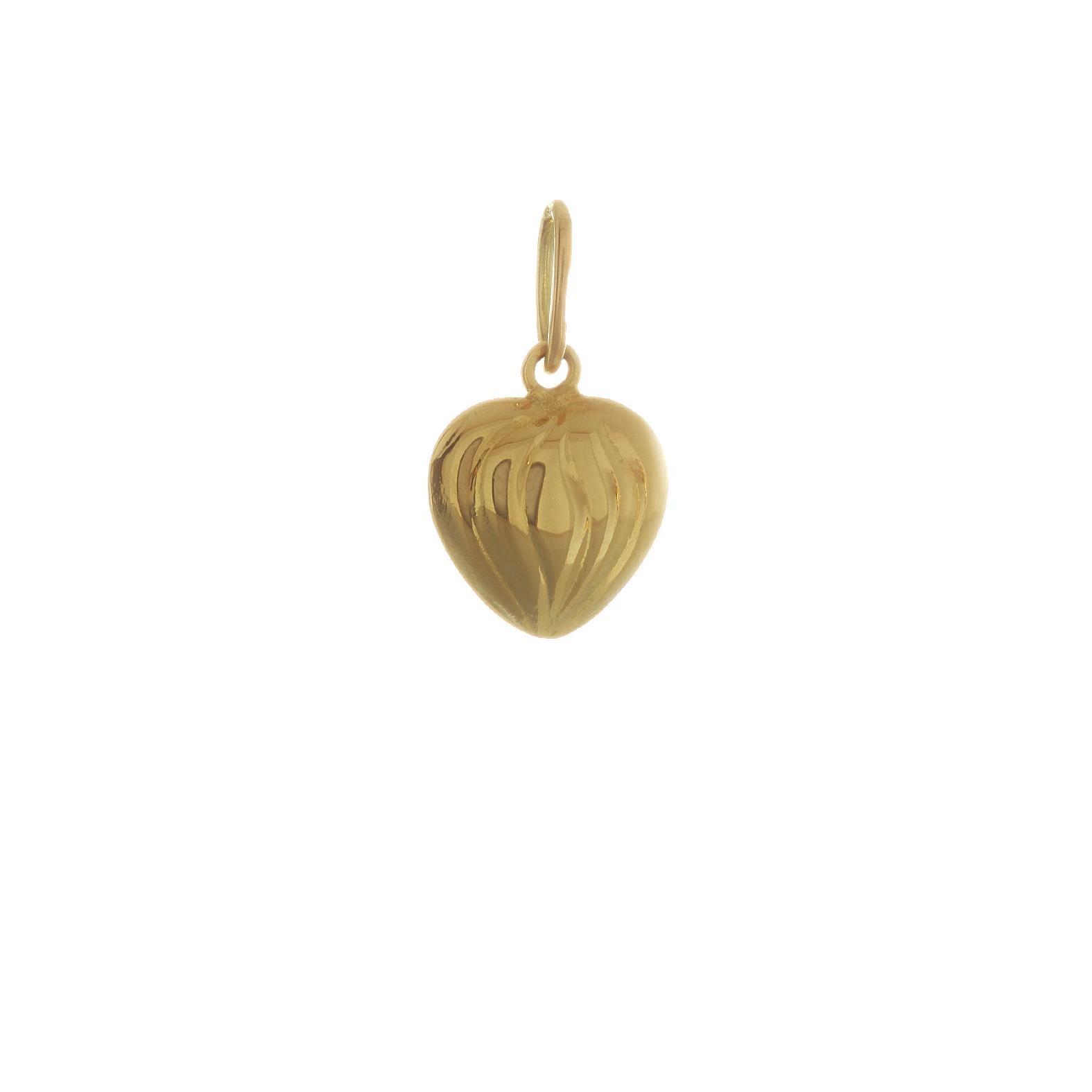 Prívesok Srdiečko zo žltého zlata 3VZ00066