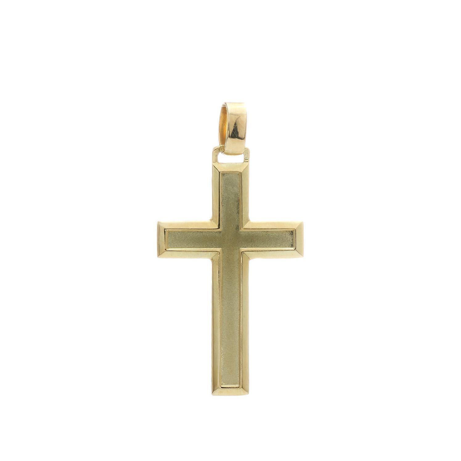 Prívesok ŽLTÝ KRÍŽIK 3VZ00285