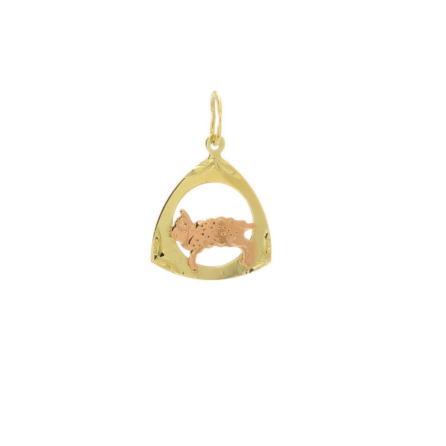 Prívesok znamenie baran z kombinovaného zlata 2VK00260