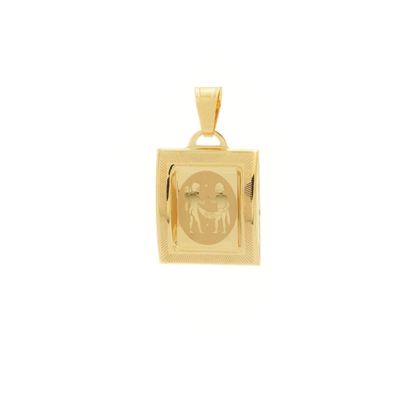 Prívesok znamenie blíženci zo žltého zlata 1VZ00212