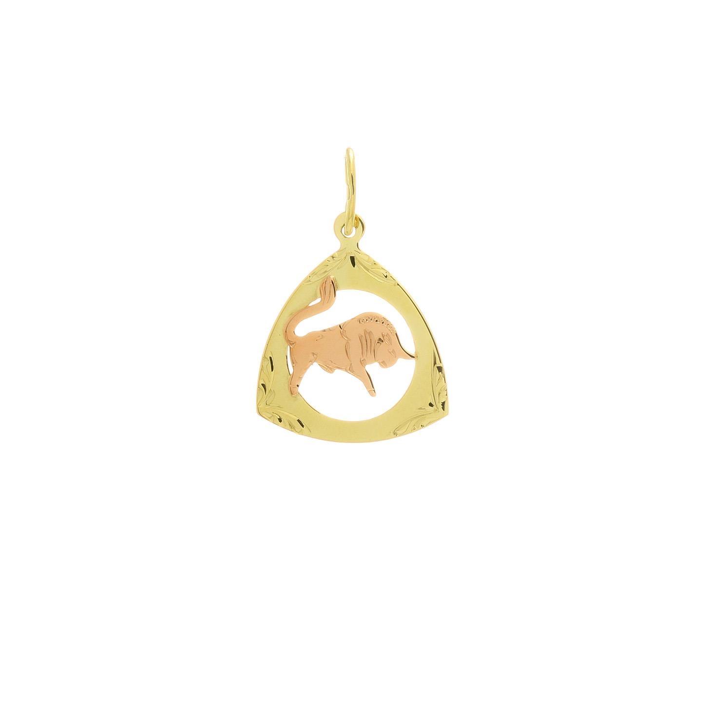 Prívesok znamenie býk z kombinovaného zlata 2VK00259