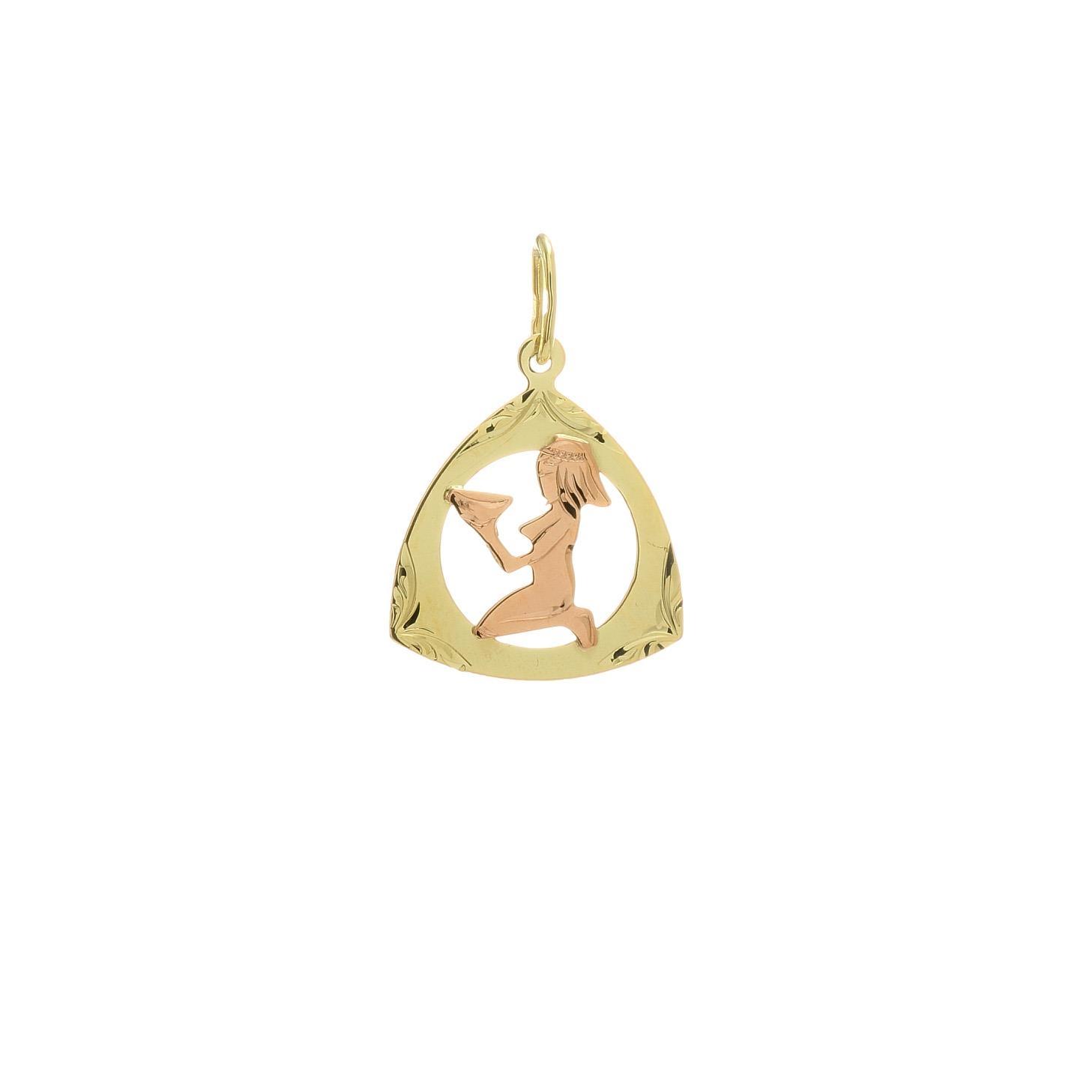 Prívesok znamenie panna z kombinovaného zlata 2VK00258