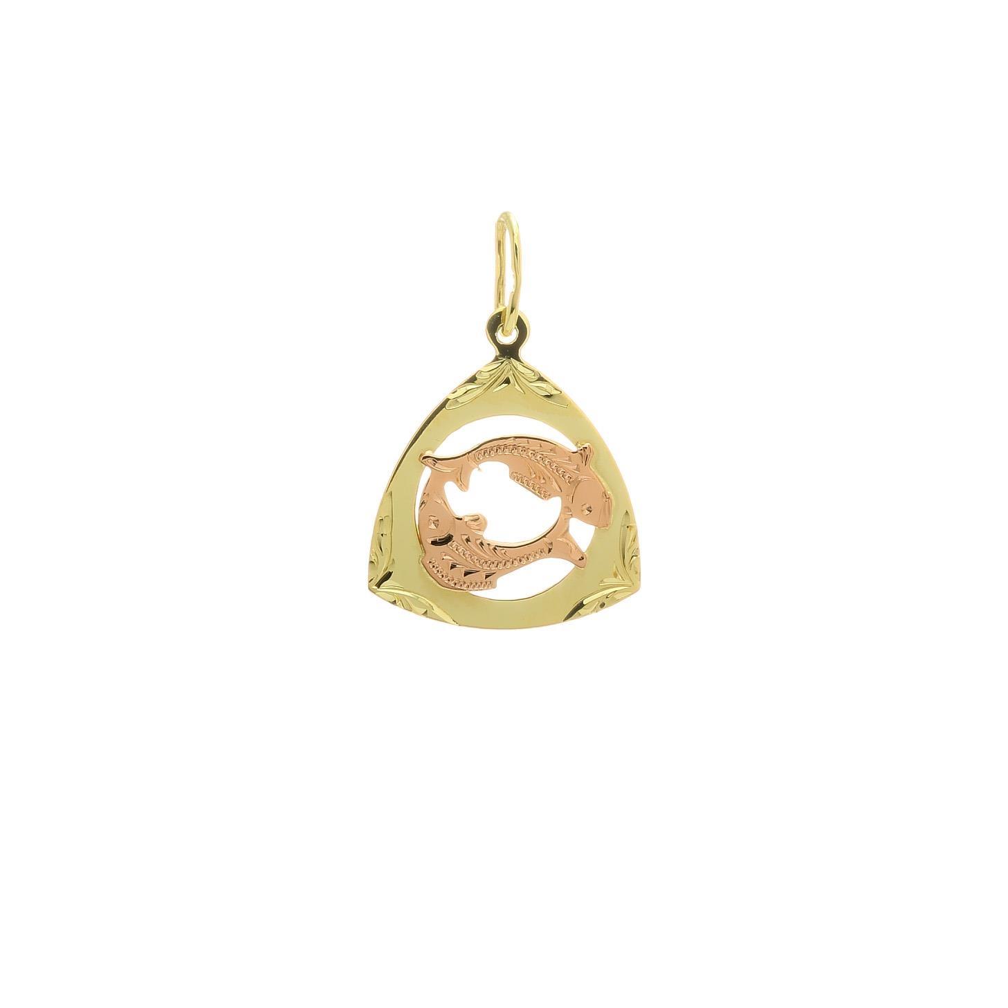 Prívesok znamenie ryby z kombinovaného zlata 2VK00250
