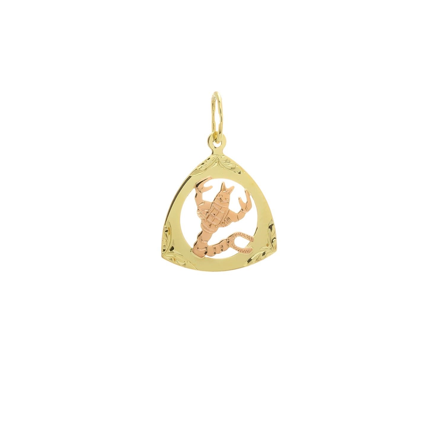 Prívesok znamenie škorpión z kombinovaného zlata 2VK00256
