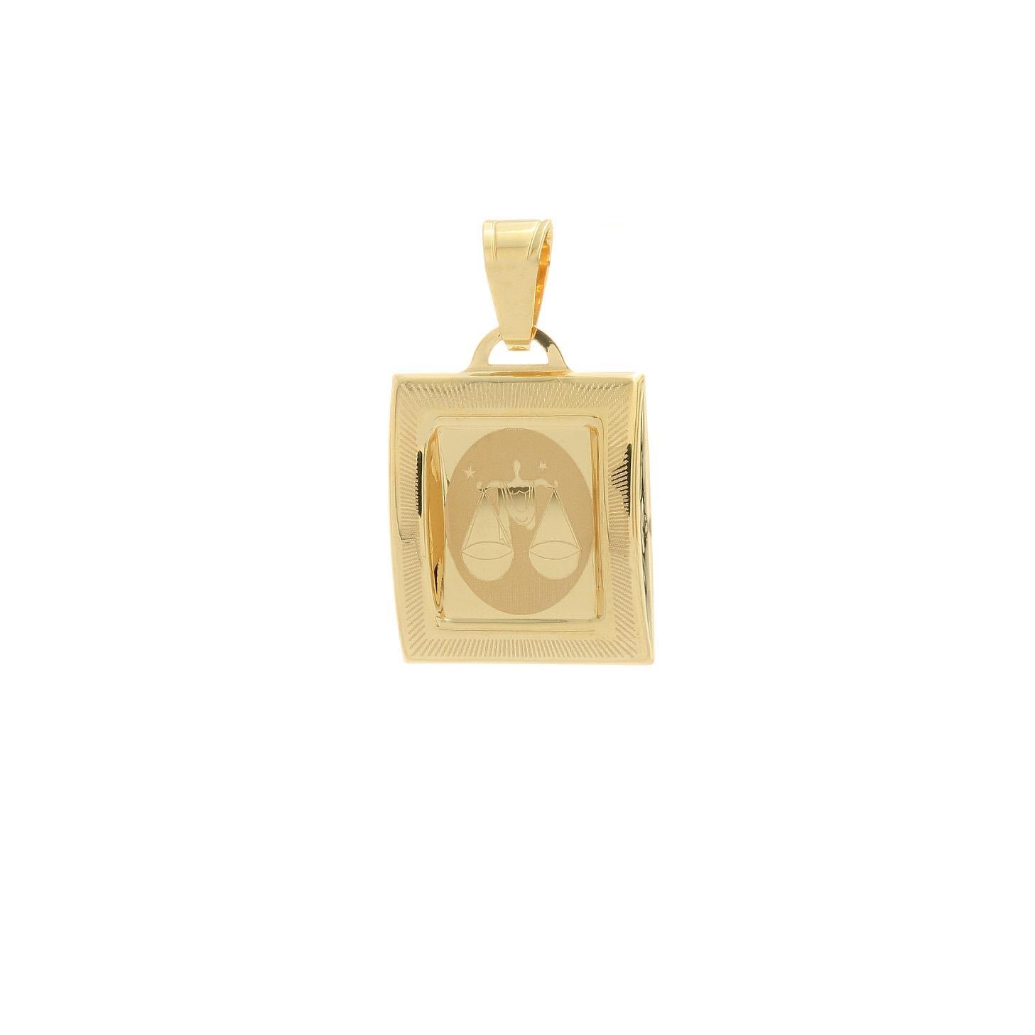 Prívesok znamenie váhy zo žltého zlata 1VZ00208