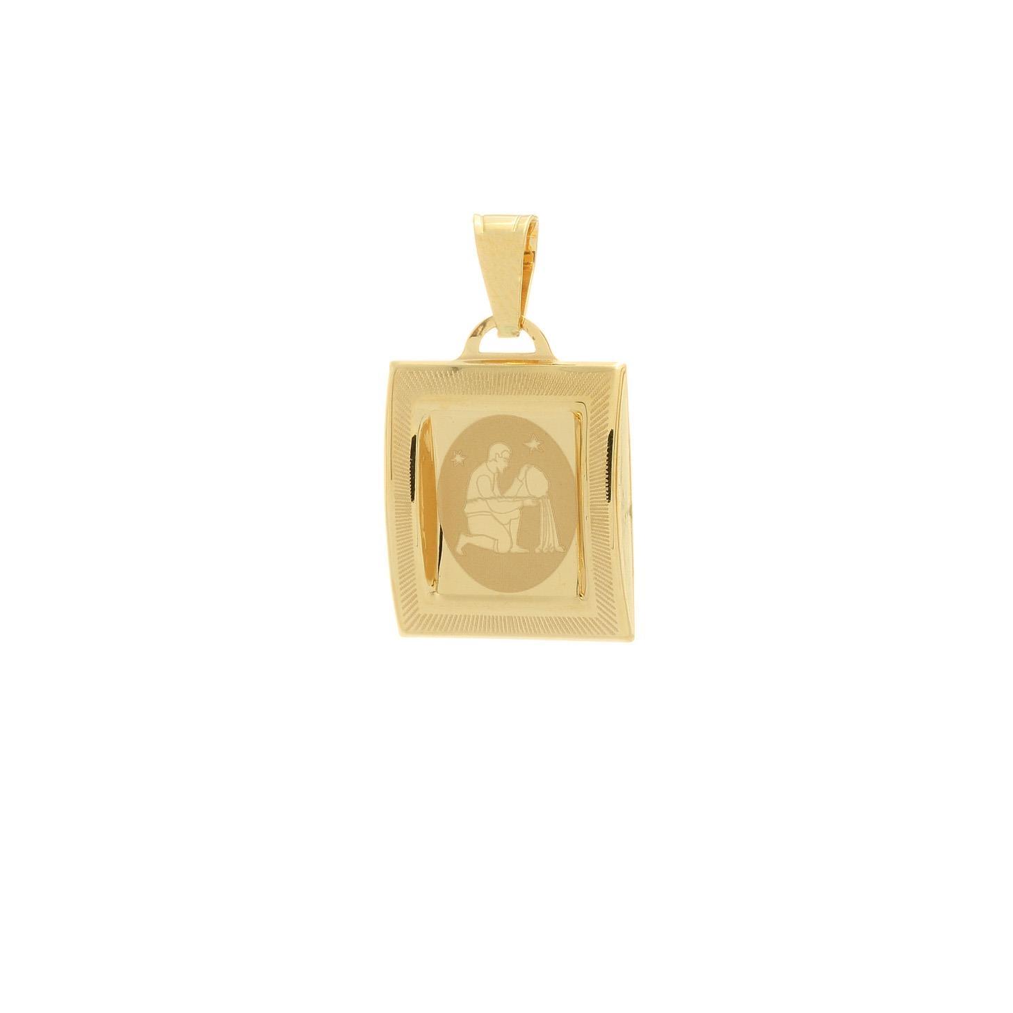 Prívesok znamenie vodnár zo žltého zlata 1VZ00209
