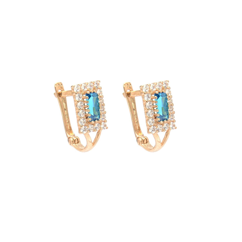 Zlaté dámske náušnice ROMANCA blue 4NZ00214