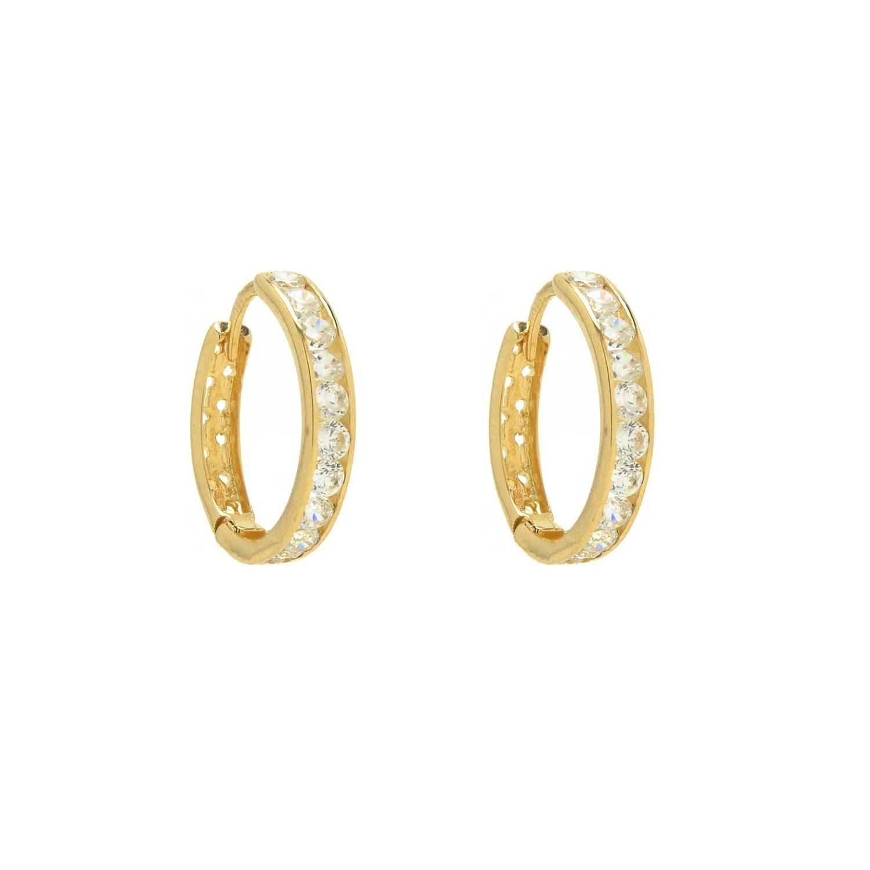 Zlaté dámske náušnice so zirkónmi MICHELA 1NZ00156