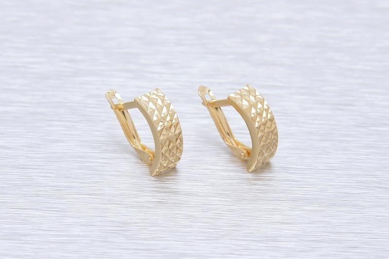 Zlaté náušnice k uchu LETIZIA 1NZ00129