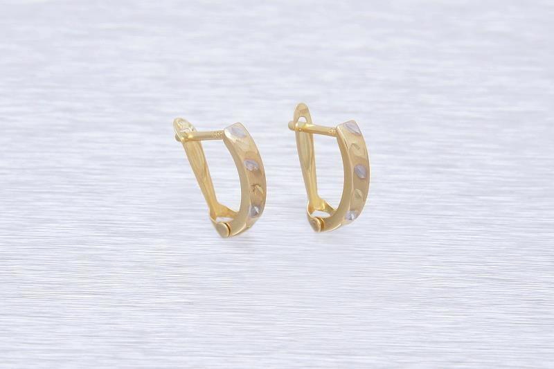 Zlaté náušnice k uchu LUIGINA 1NK00143