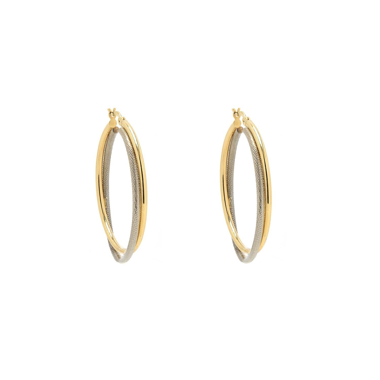 Zlaté náušnice kruhy INES 1NK00127