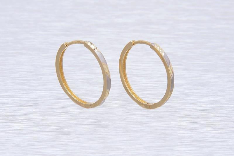 Zlaté náušnice kruhy LEONORA 1NZ00128