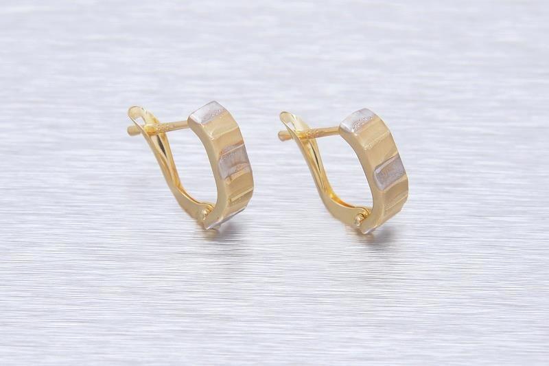 Zlaté náušnice LORETO 1NK00133
