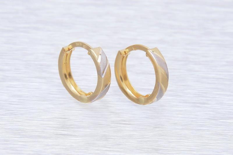 Zlaté náušnice NUNZIATELLA 1NK00164