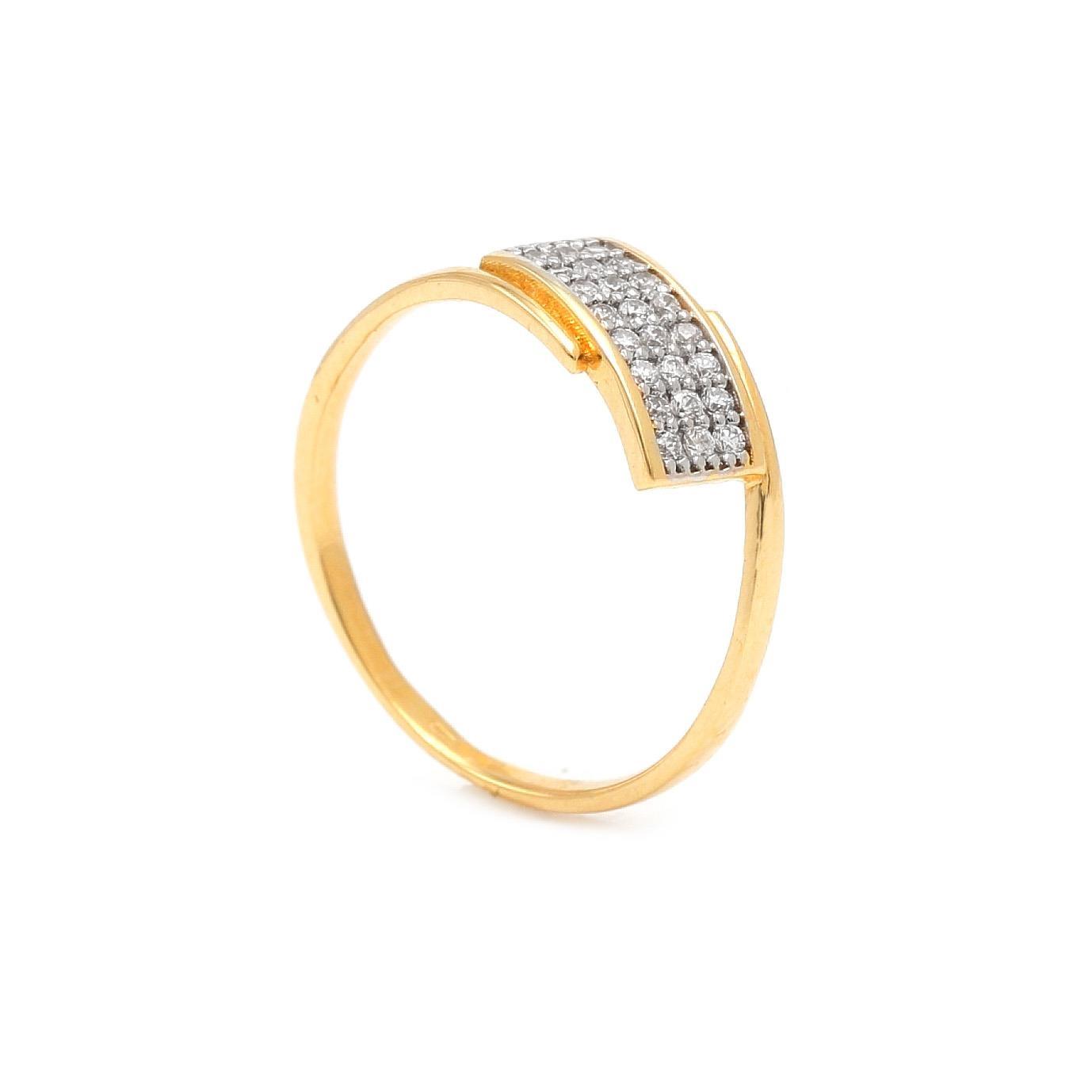 Zlatý dámsky prsteň ARAS 7PZ00399