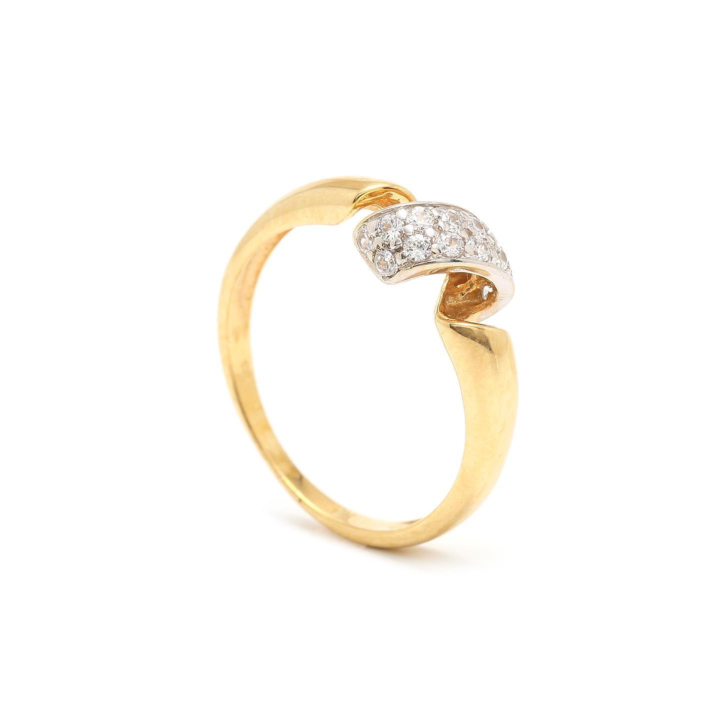 Zlatý dámsky prsteň ASLI 7PZ00321