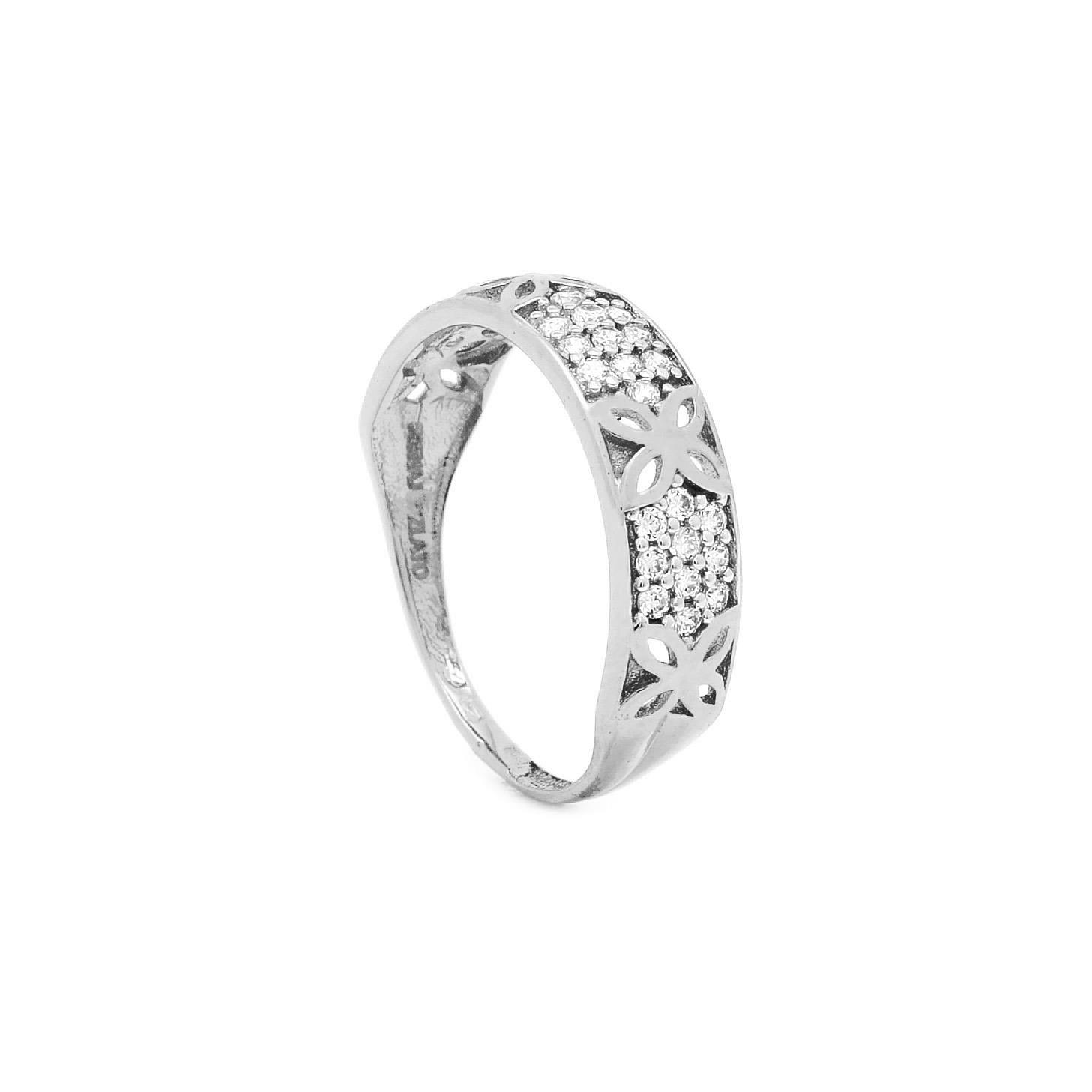 Zlatý dámsky prsteň BELINDA white d5dc80bae5b