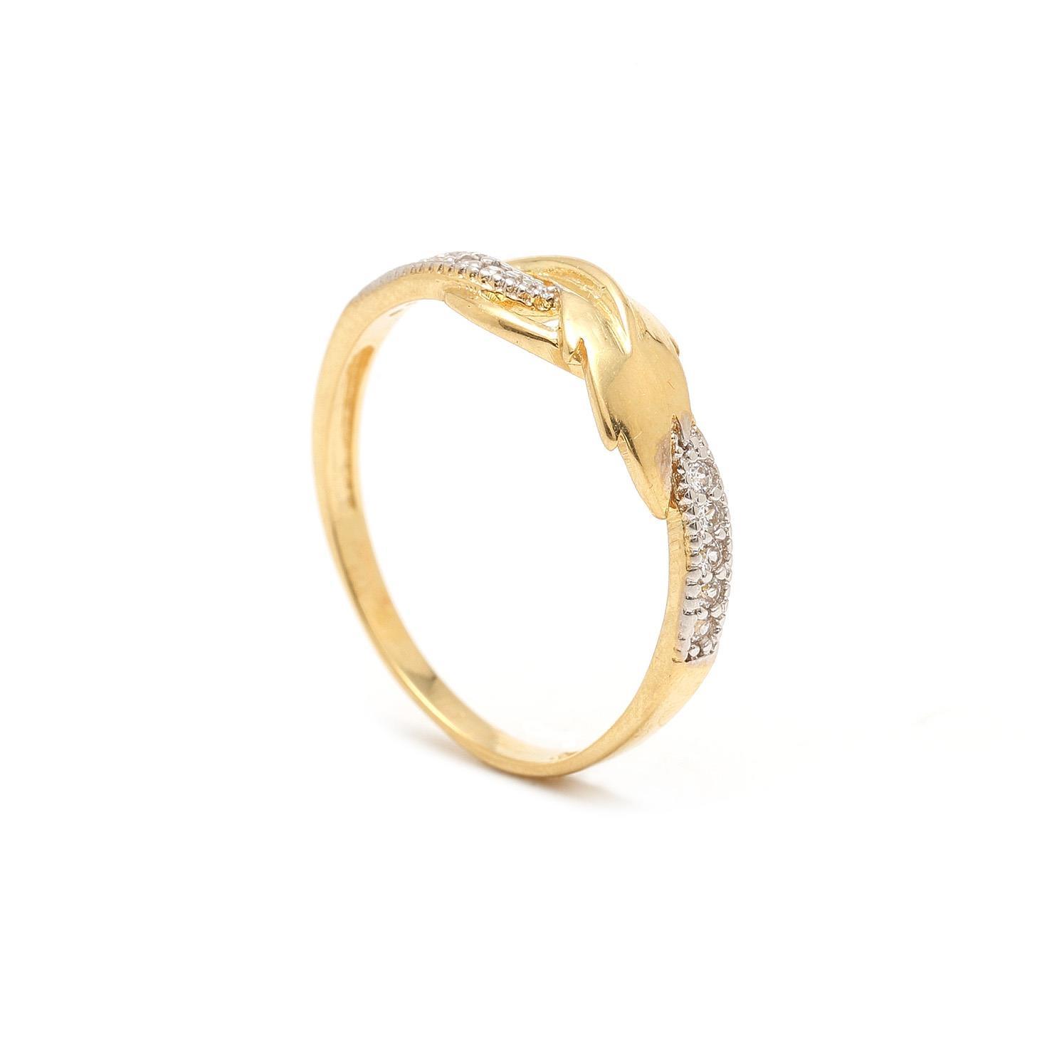 Zlatý dámsky prsteň BENITA 7PZ00328