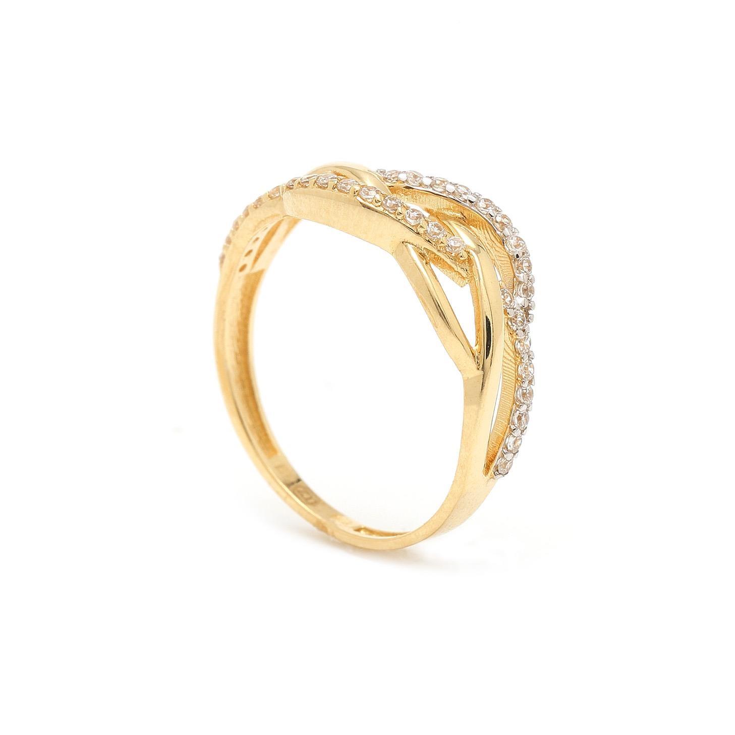 Zlatý dámsky prsteň BERNA 7PZ00323