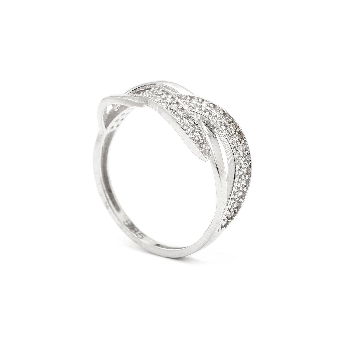 Zlatý dámsky prsteň BILGE white 7PB00332