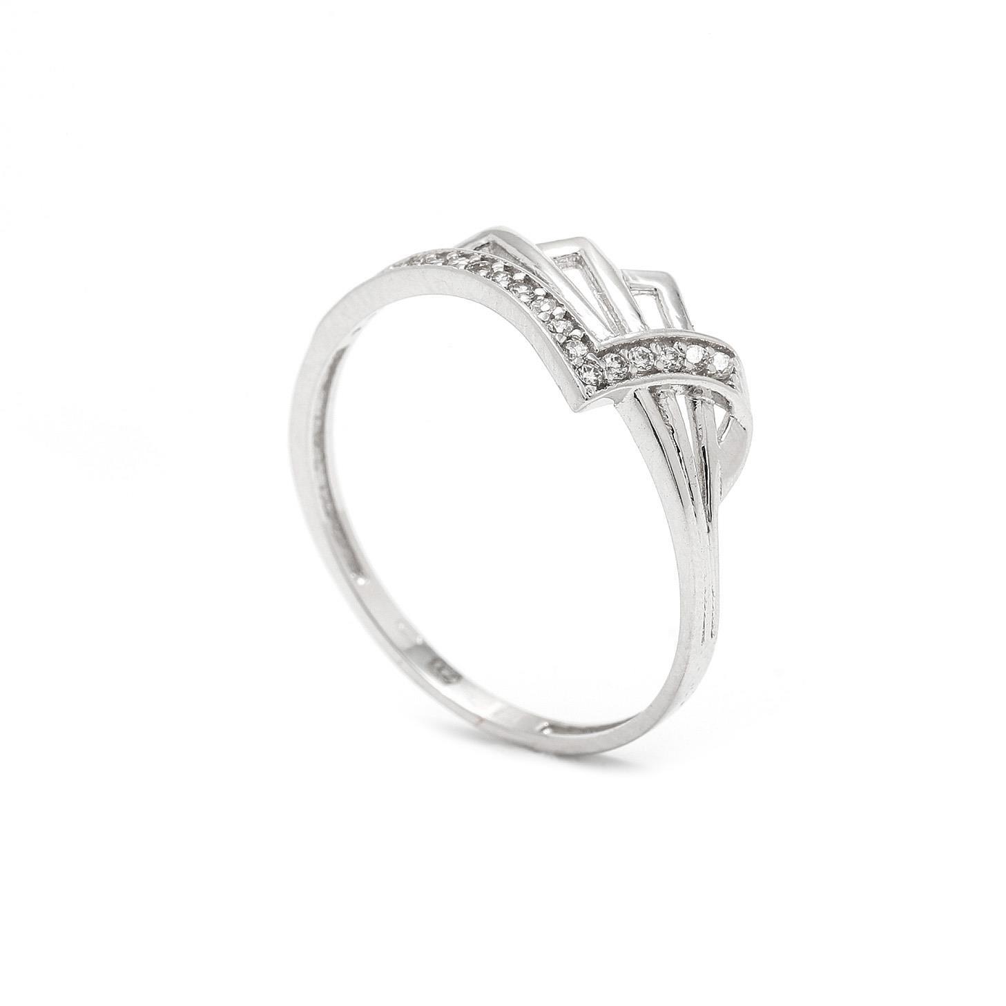Zlatý dámsky prsteň CAROLIEN white 7PB00331
