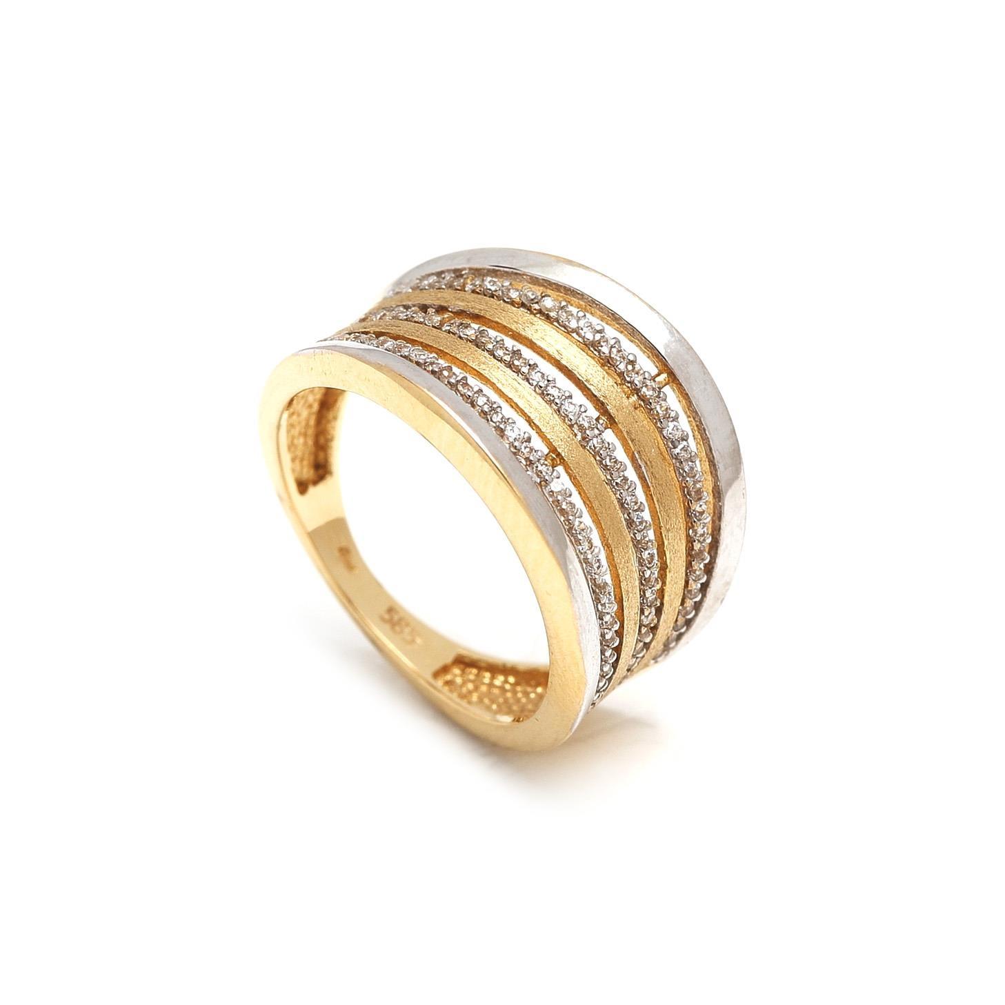 Zlatý dámsky prsteň DAFNE 1PK00002