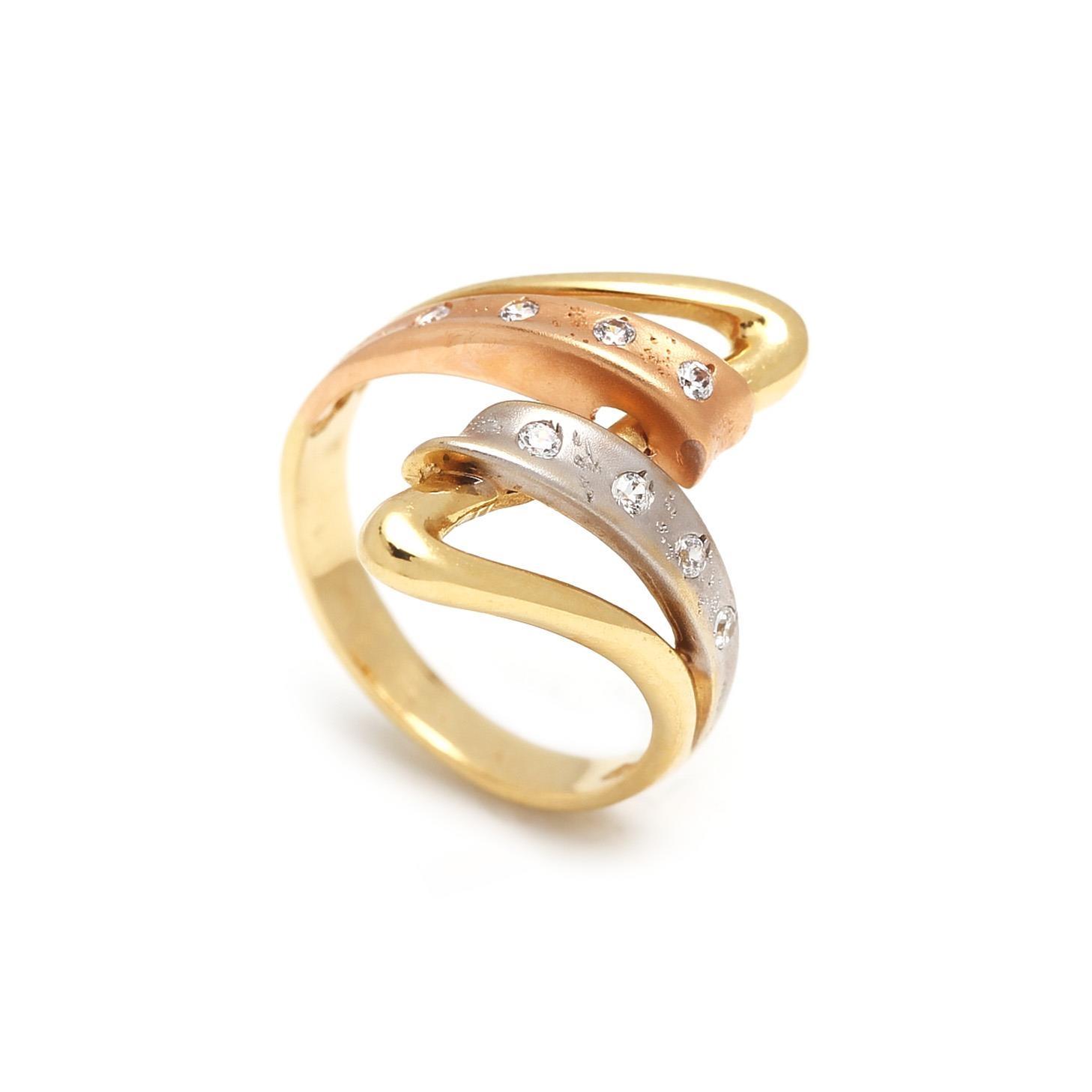 Zlatý dámsky prsteň DELFINA 1PK00007