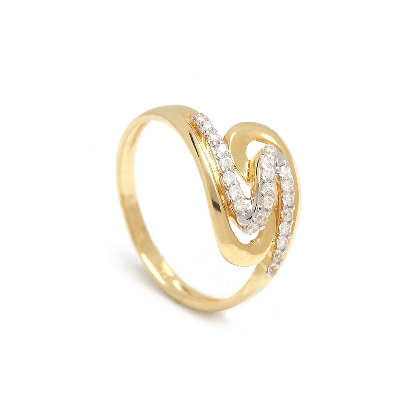 Zlatý dámsky prsteň ELMA 1PZ00028
