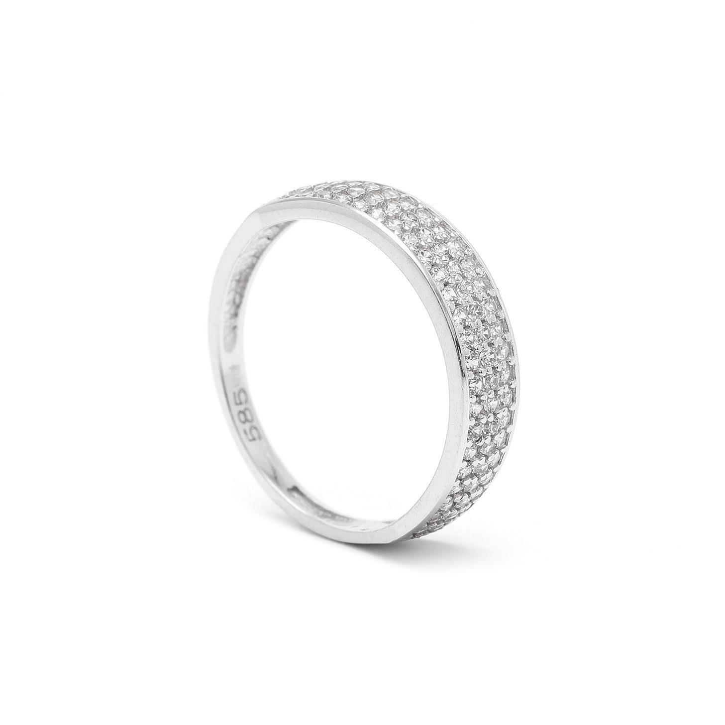 Zlatý dámsky prsteň ELMAS white 7PB00313