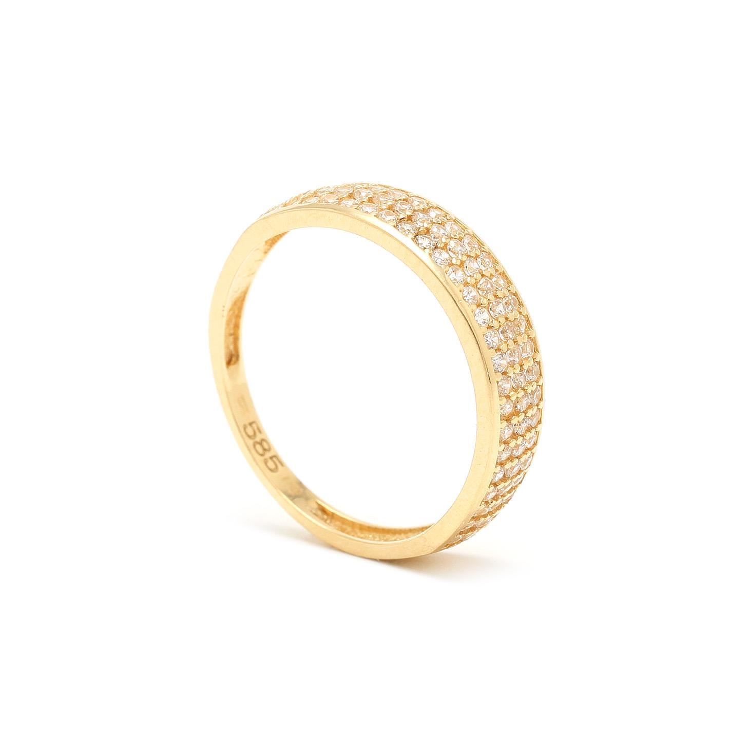 Zlatý dámsky prsteň ELMAS 7PZ00314