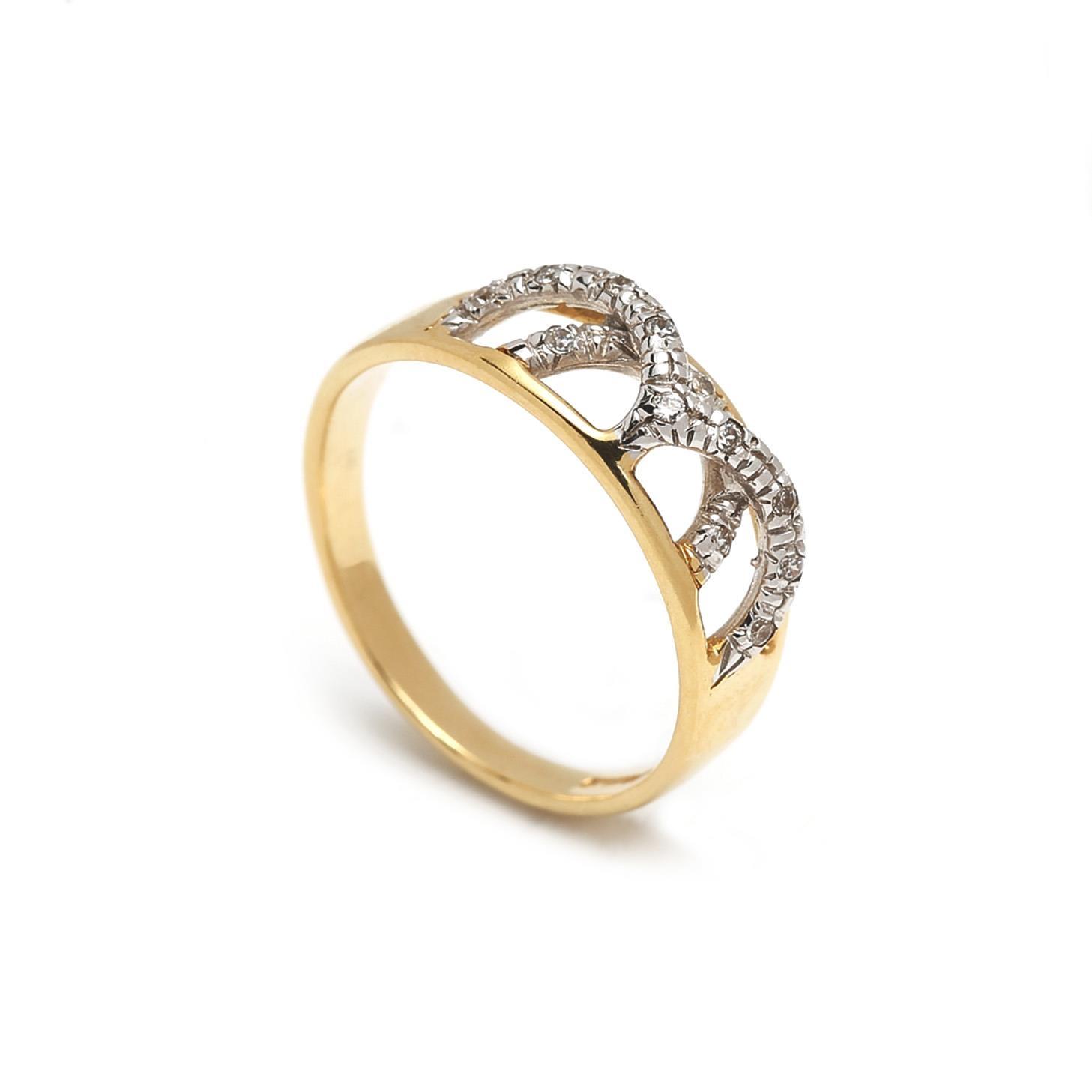 Zlatý dámsky prsteň ELNORA 1PK00029