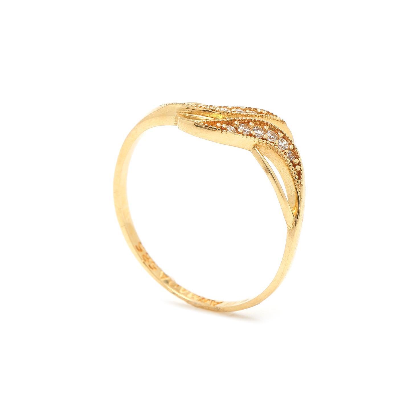 Zlatý dámsky prsteň EMINE 7PZ00325