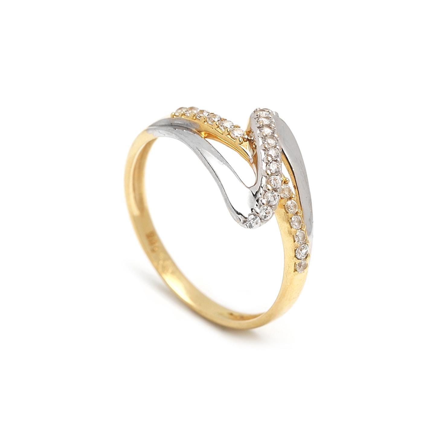 Zlatý dámsky prsteň ERNESTA 1PK00035