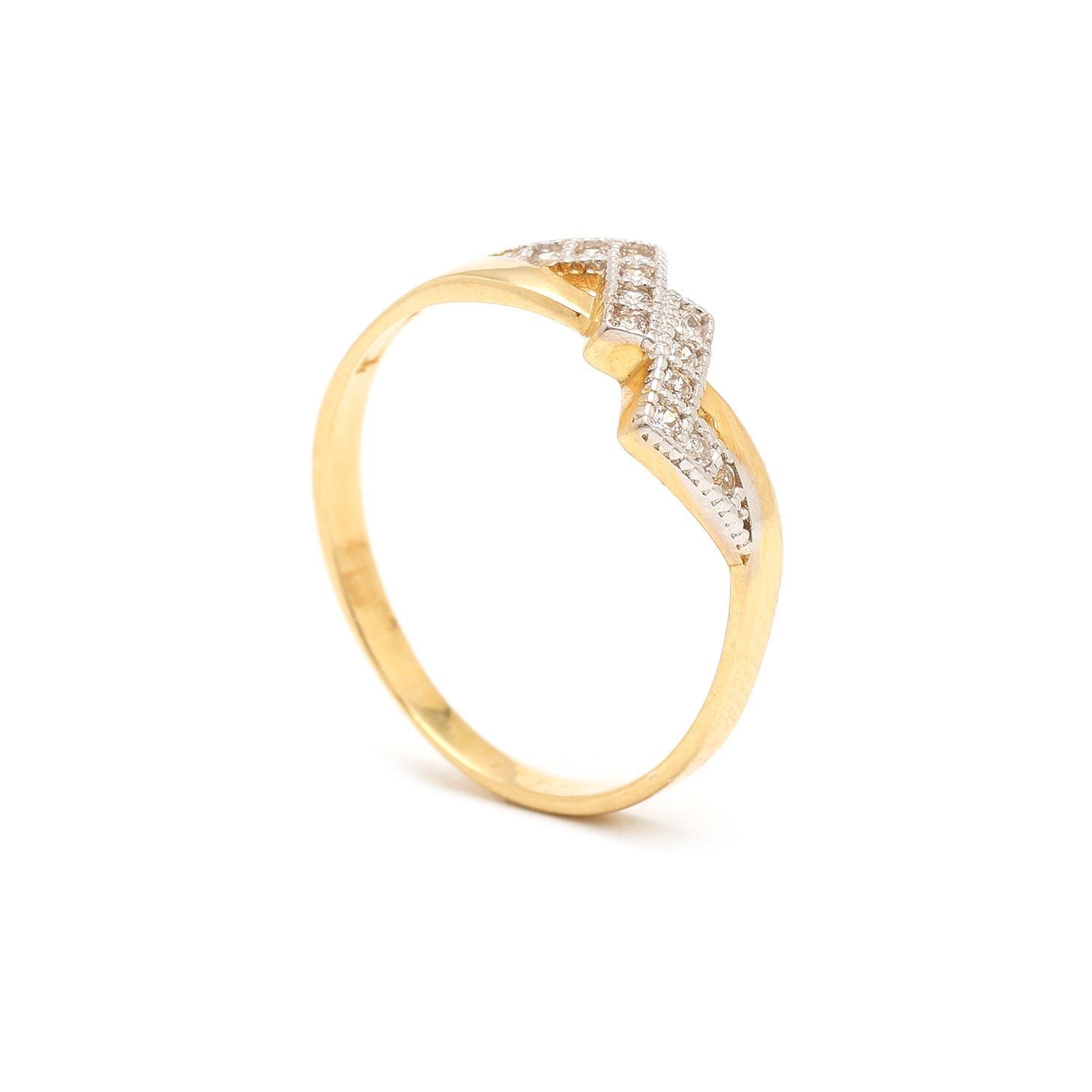 Zlatý dámsky prsteň ESCALERA 7PZ00327