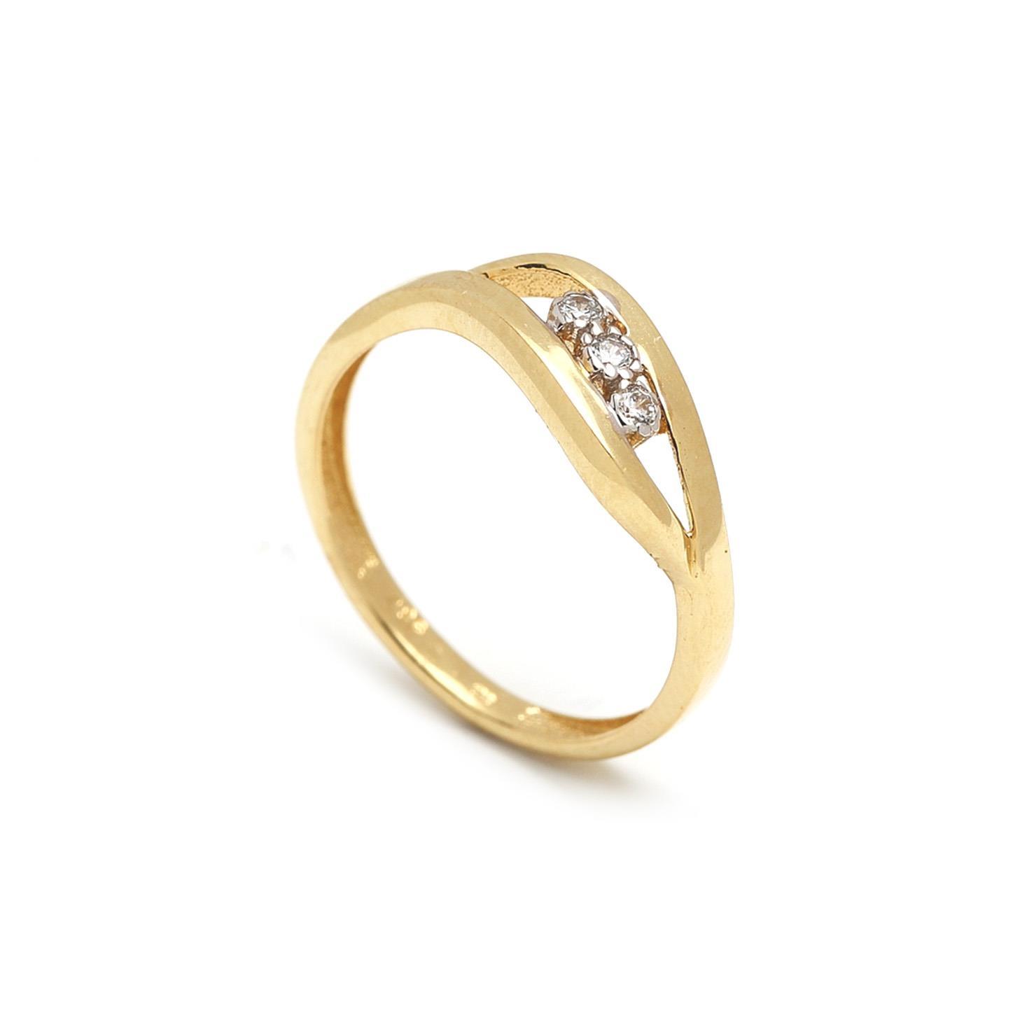 Zlatý dámsky prsteň FELICITA 1PZ00042