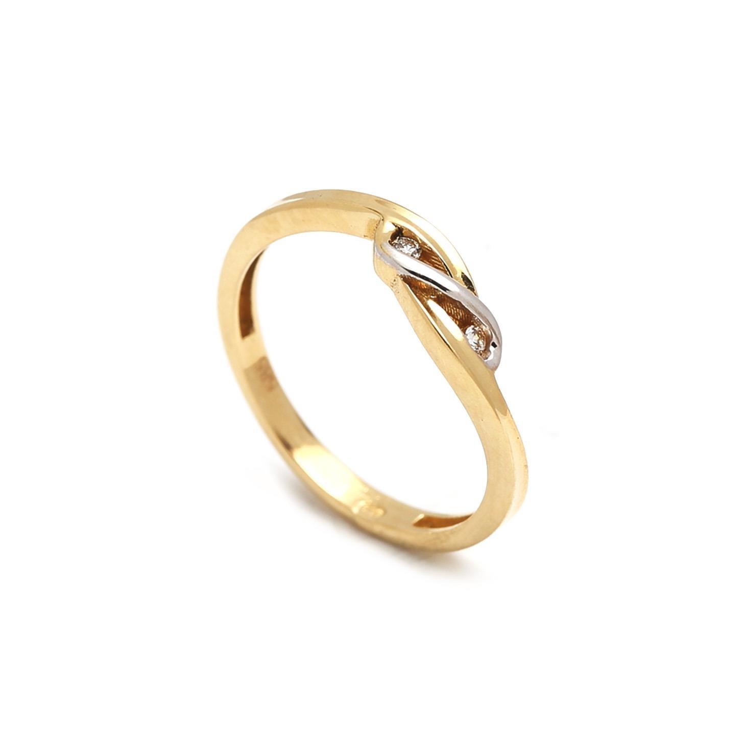 Zlatý dámsky prsteň FINA 1PZ00047