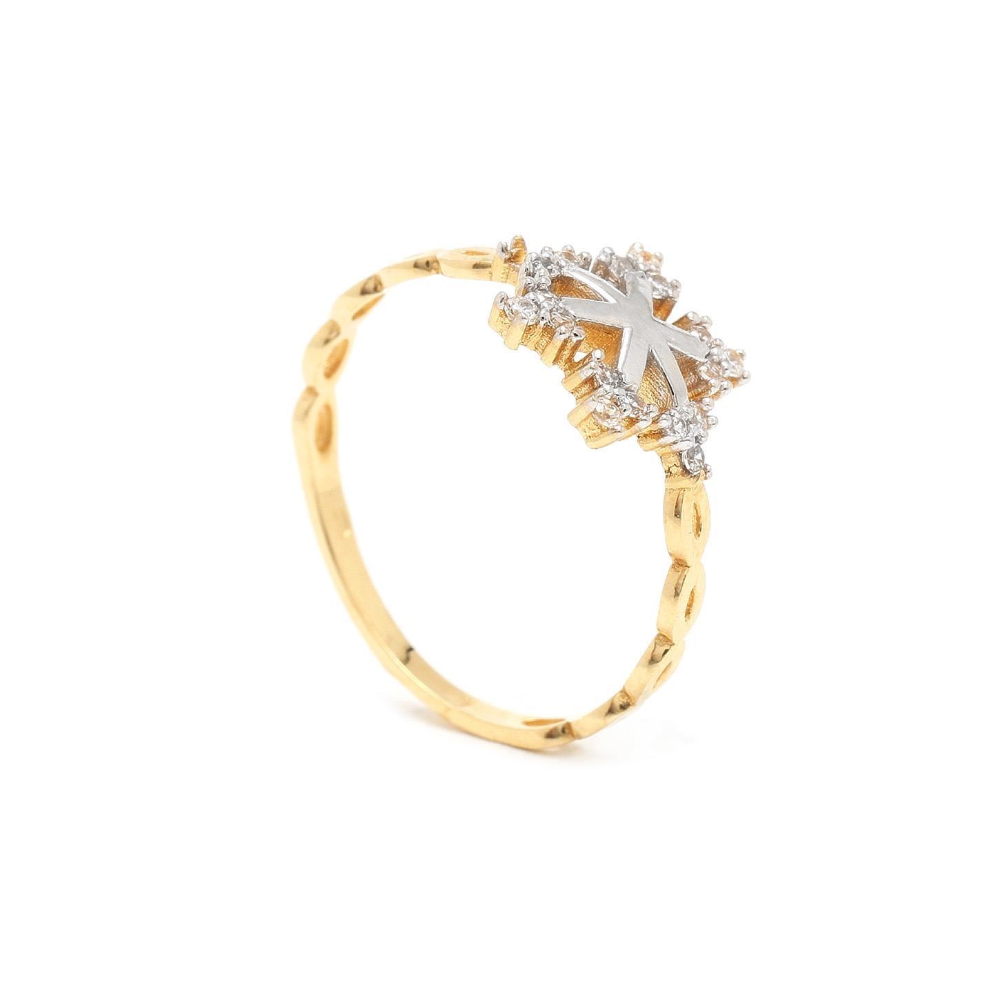 Zlatý dámsky prsteň FIOCCO 7PZ00316